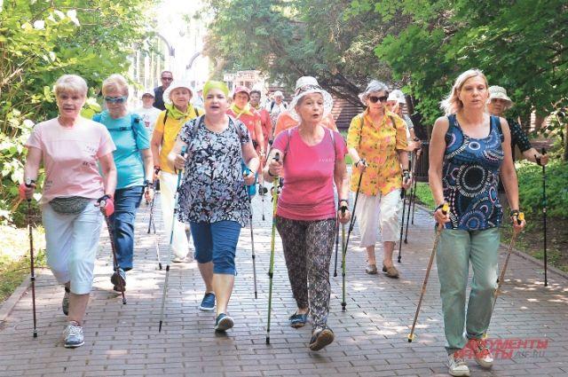 Соревнования по скандинавской ходьбе в парке «Фили».