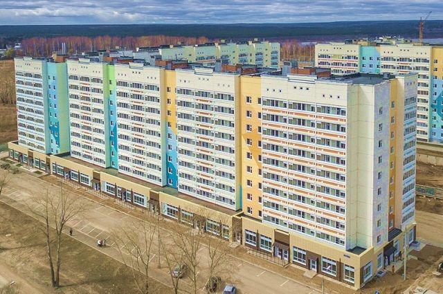 Строящийся дом на улице Целинная, 57.