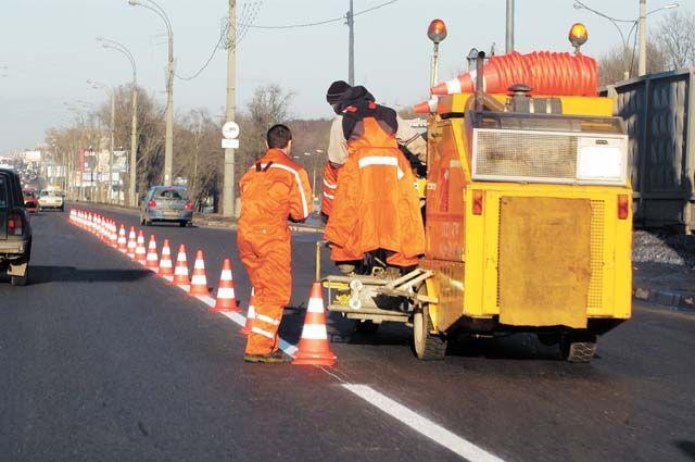 В 2019 г. на городских дорогах должны появиться 550 тыс. погонных метров линейной разметки.