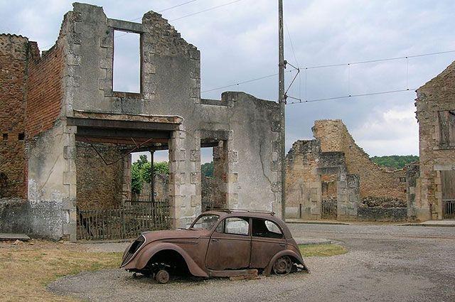 Руины Орадур-сюр-Глан.