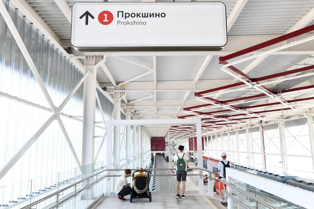 Станция «Прокшино». Высота потолков составляет почти 10 метров..