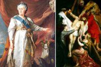 По легенде, Екатерина II, проходя по залам Зимнего дворца, случайно заметила там картину Рубенса «Снятие с креста». Полюбовавшись полотном, она вознамерилась устроить художественную галерею при своей резиденции.
