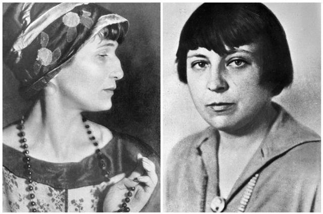 Анна Ахматова и Марина Цветаева.