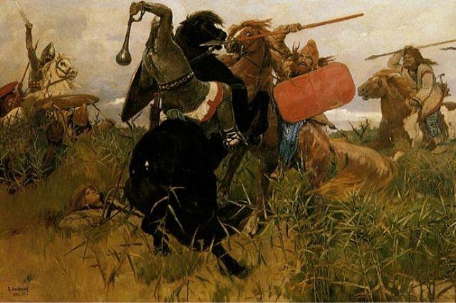 Скифы никогда не встречались со славянами, что не помешало художнику Виктору Васнецову изобразить этот момент на картине.