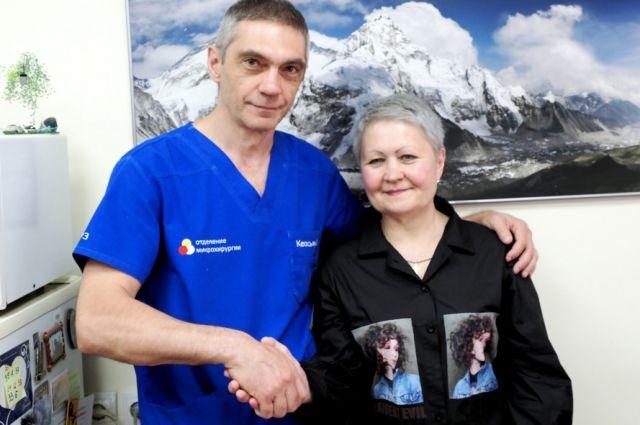 Мария Шакаришвили со своим спасителем.