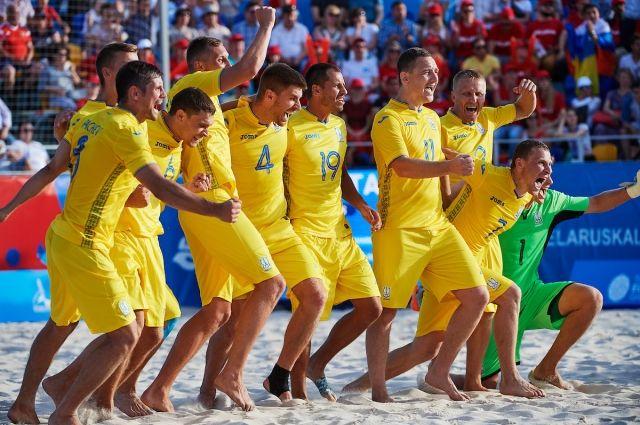 Сборная Украины по пляжному футболу обыграла Италию в Минске