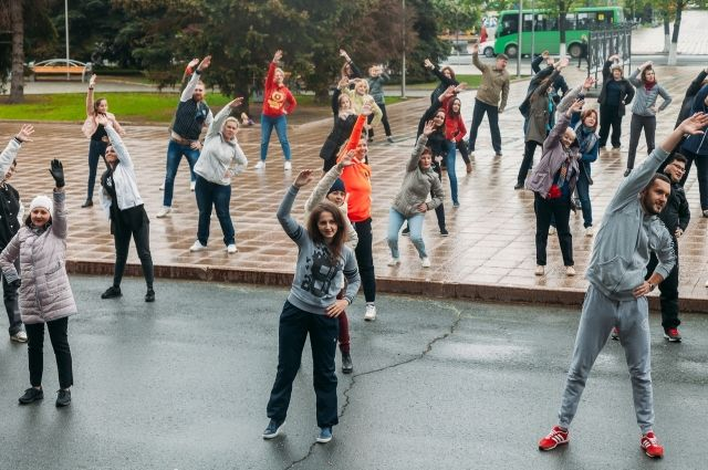 Тюменцев приглашают размяться перед работой и получить заряд бодрости