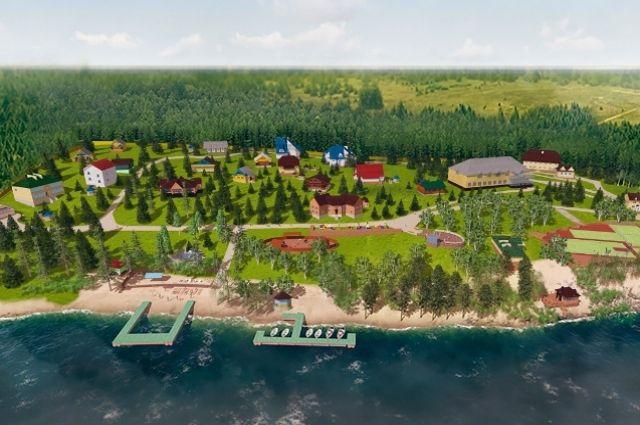 Комплекс расположен на берегу озера Большой Теренкуль.