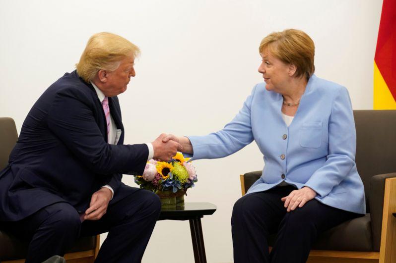 Двусторонняя встреча президента США Дональда Трампа и канцлера Германии Ангелы Меркель.