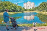 Возле Новочерёмушкинского пруда когда-то была старинная усадьба, а теперь выросли новые дома.