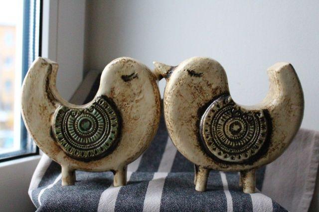 Необычное керамическое украшение.
