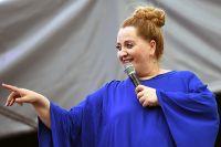 Грузинская певица Нино Катамадзе во время выступления на шестнадцатом международном фестивале «Усадьба JAZZ» в музее-усадьбе «Коломенское». 22 июня 2019 г.