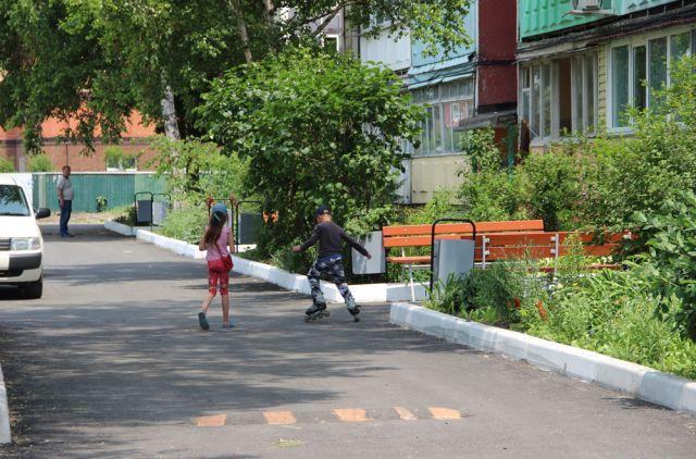 Отремонтированные дворы радуют жителей Михайловки.
