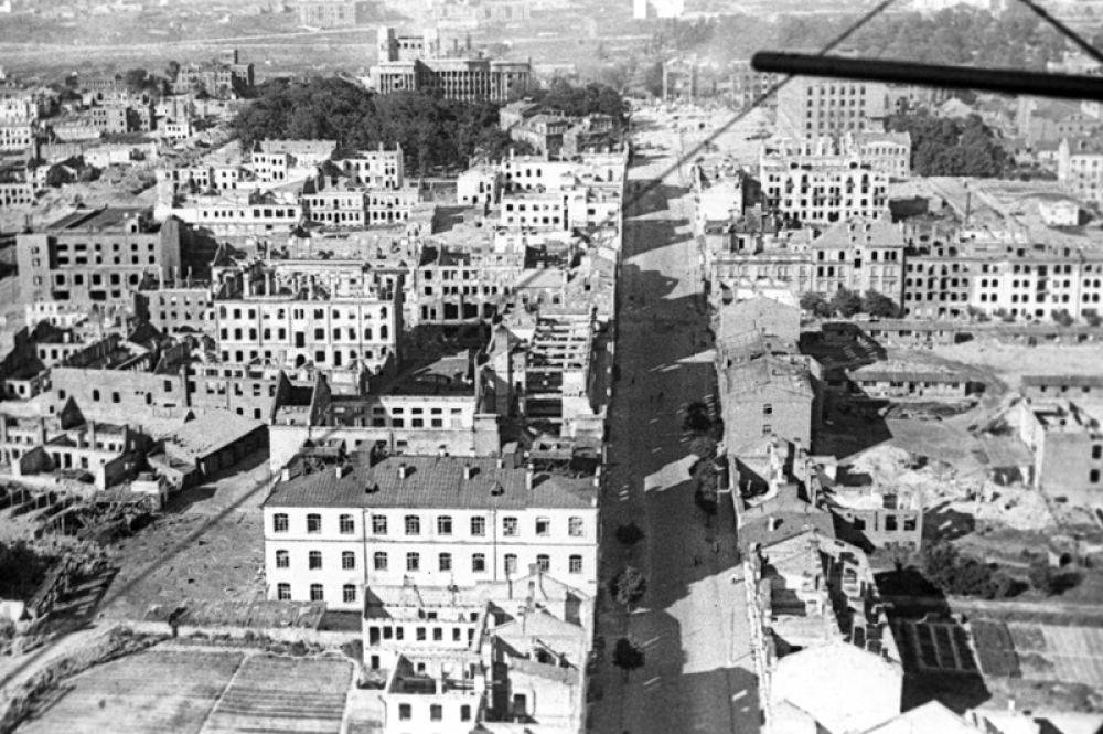 Минск в день освобождения, 3 июля 1944 года.