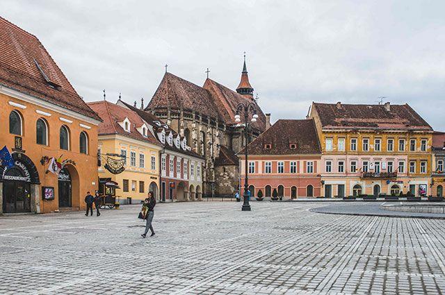 Город Брашов в Трансильвании.