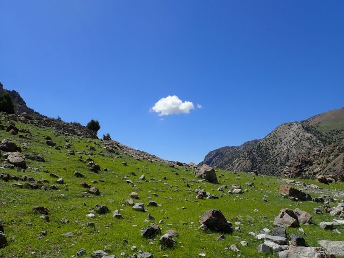 Фанские горы. Озеро Куликалон. Таджикистан
