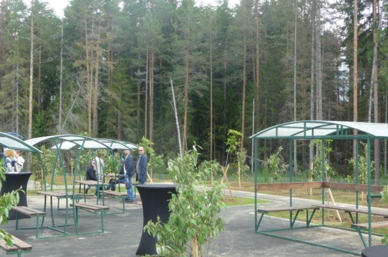 На трассе оборудованы зоны отдыха для водителей и игровые площадки для детей.