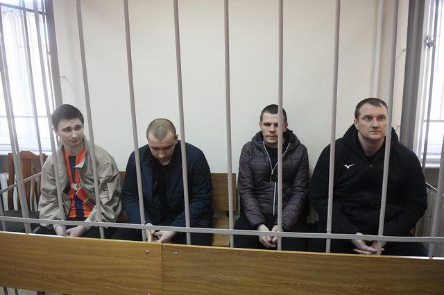 Арестованные украинские моряки