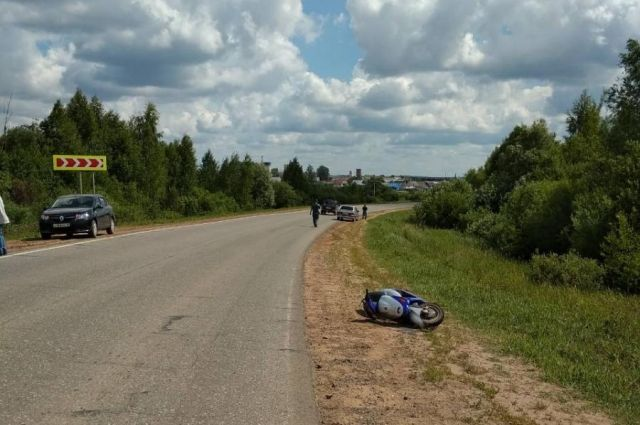 В Удмуртии в ДТП пострадала пенсионерка на скутере