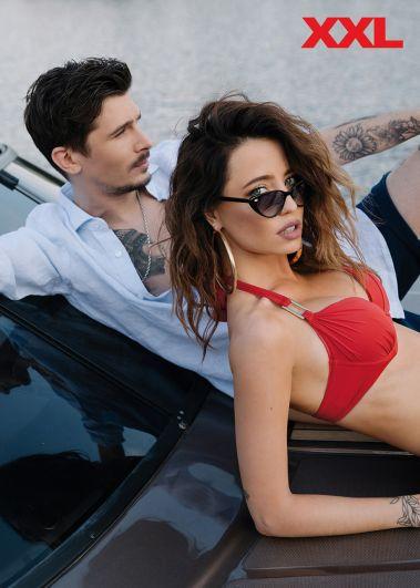 Надя Дорофеева примерила не один образ, но в красном купальнике звезда выглядит просто восхитительно!