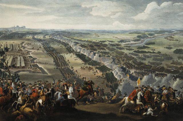 Денис Мартен. «Полтавская битва» (1726).