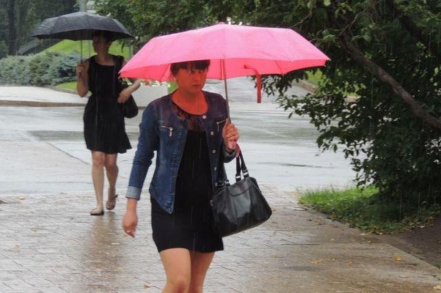 В выходные возможны небольшой дождь, грозы.