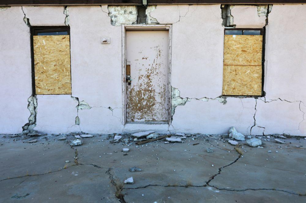 Дом, находившийся недалеко от эпицентра землетрясения.