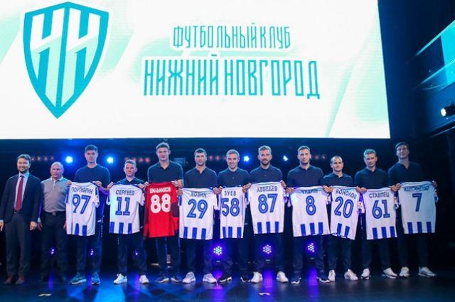 Новички ФК «Нижний Новгород» выбрали игровые номера