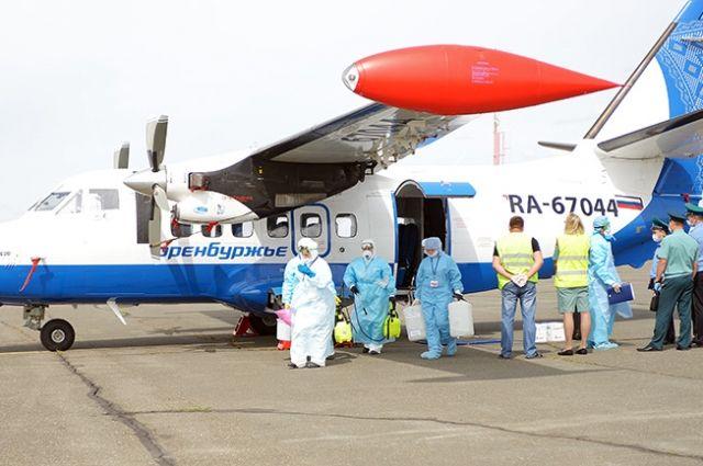 В аэропорту «Оренбург» прошли учения с «холерным пассажиром»