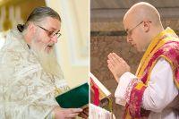 Православный и католический священники.