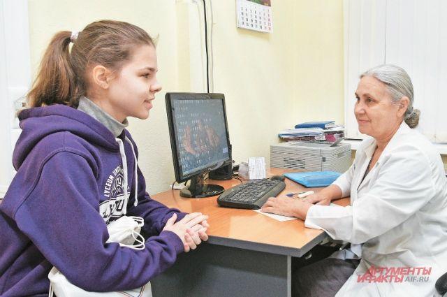 На приёме у невролога Ирины Пимоновой. Виюле проект «Дни открытых дверей» продолжится, поэтому все желающие смогут попасть к ней наконсультацию без записи.