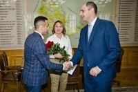 Денис Паслер встретился с серебряными призерами Европейских игр в Минске