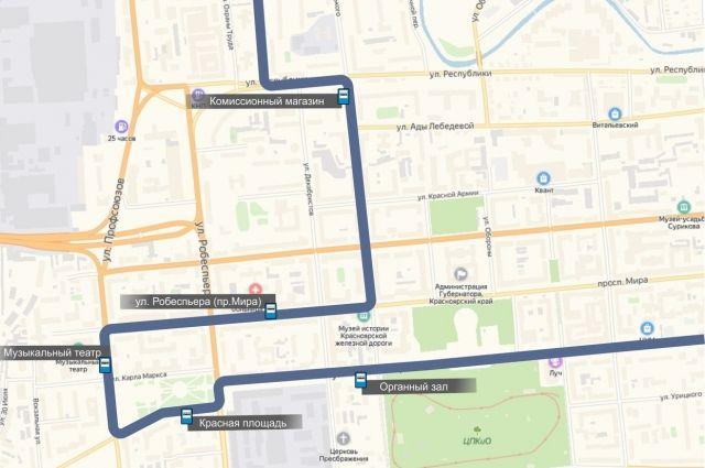 Но новому маршруту автобус будет ездить с 13 июля.