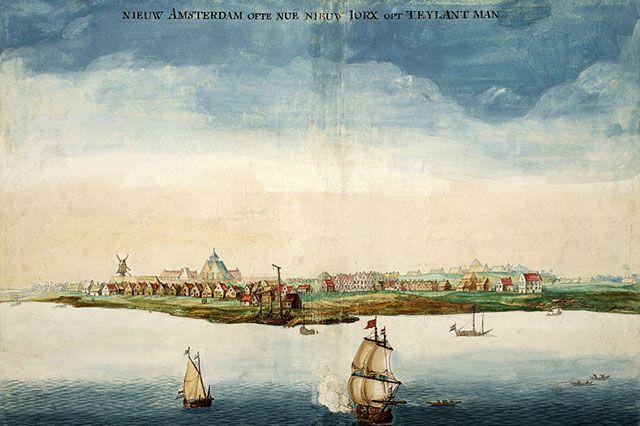 Новый Амстердам в 1664 г.