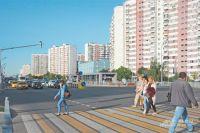 Пешеходный переход через Боровское шоссе возле станции метро «Новопеределкино».