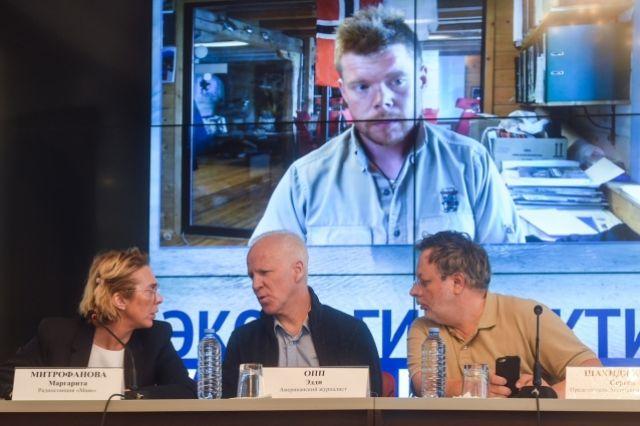 Пресс-конференцию организовали агентство Barents News и ассоциация журналистов-экологов «ЭКО-пресс».