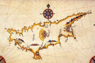 Древняя карта Кипра.