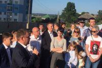 На встречу с мэром пришли активисты микрорайона 7Б по Притомскому проспекту.