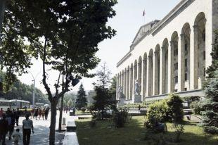 Дом правительства Грузинской ССР на проспекте Руставели.