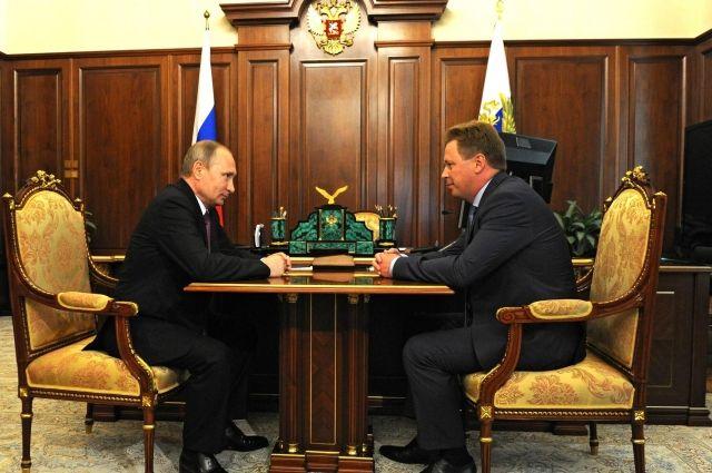 Встреча Президента России Владимира Путина с Дмитрием Овсянниковым.
