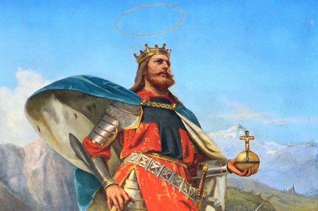 Фрагмент картины «Святой Олаф из Норвегии». Художник Пий Велонский.