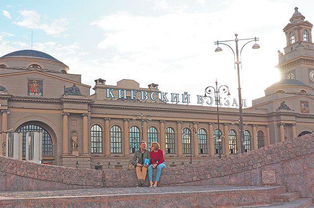 Киевский вокзал– частая «декорация» длякинофильмов.