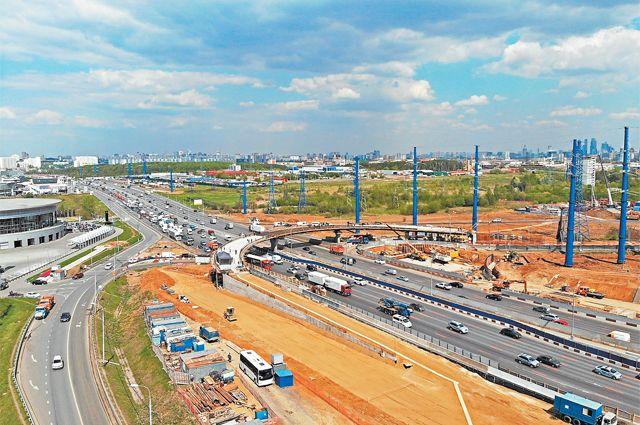 Развязка напересечении МКАД иул. Генерала Дорохова уже готова на70%. Развитие транспортной инфраструктуры– важное направление программы «Мой район».