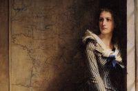 Шарлотта Корде. Фрагмент картины художника Бодри
