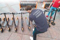 Прокат электросамокатов на Трубной площади.