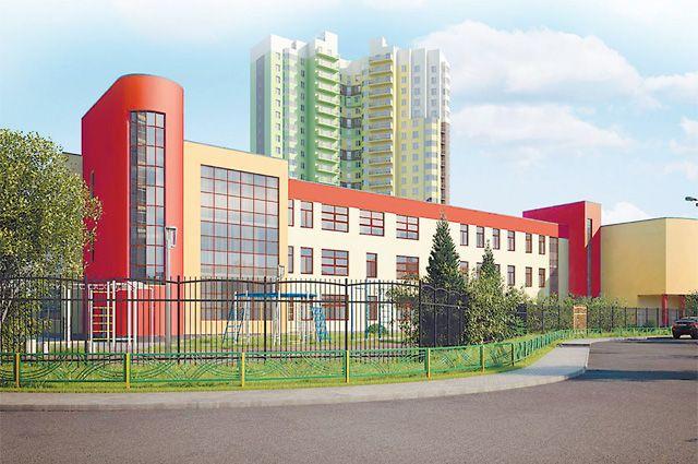 Новую школу, планировка которой напоминает самолёт, скоро построят в Крылатском.