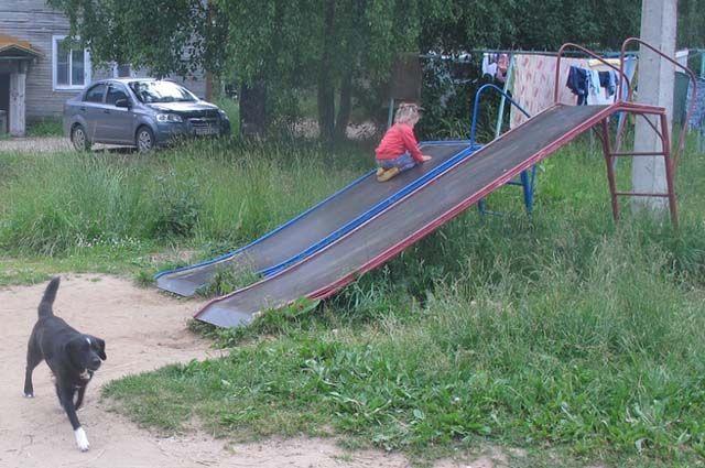 В Дырносе, Кочпоне, Лесозаводе практически нет игровых площадок.