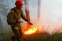 В XXI веке основным оружием пожарных остаются лопата, топор и ранцевый огнетушитель.
