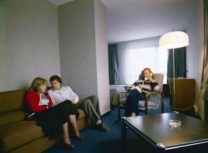 В одном из номеров гостиницы «Космос», 1980 год.