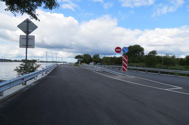 В микрорайоне Прегольском открыли после ремонта основную часть моста